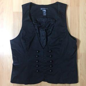 Black Button Vest 🖤